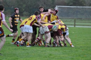 Action for the u20's game with Yng Munsters