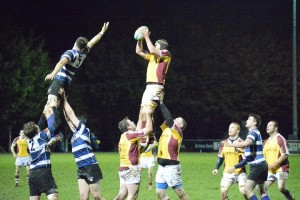 Lineout action from the senior match