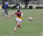 Kevin McManus was on kickng duty for the u18's