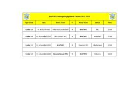 Bruff RFC Underage Match Fixtures 1st Nov_2015