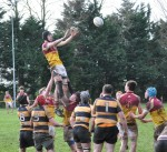 Action from the u18's game with Young Munster