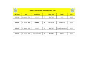 Bruff RFC Underage Match Fixtures 31st Jan_2016