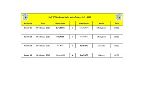 Bruff RFC Underage Match Fixtures 14th Feb_2016