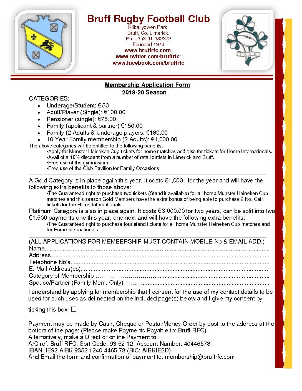 Membership-Application-Form-2019 | Bruff Rugby Football Club